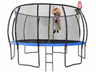 1 trampoline 8ft 2.4m with ladder and basketball hoop