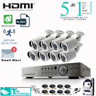 8CH DVR 2.4MP 1080P CCTV Camera Night Vision Waterproof Home Security System Kit