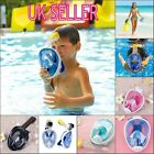 Adult Kid Full Face Snorkel Mask Surface Diving Swimming Tool Scuba Pipe Gopro
