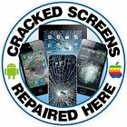 Mobile Phone, Tablet Cracked Screen Repaired, Pos Vinyl Sticker, Apple, Android