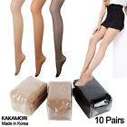 Women Nylon Sheer Pantyhose Tights Stocking 10 pairs Daily Pantyhose Stockings