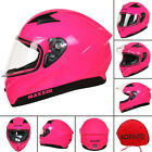 LEOPARD Full Face Motorbike Motorcycle Helmet Crash Road Legal Pink Butterfly