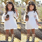 Baby clothes baby Kids Girls Summer Dress Girl Pageant Wedding Dress Lace Flower