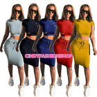 Cindy Summer Hollow Out 2PC Set Suit Body con O-Neck  Chic Club Party Knee Dress