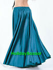 Dark Teal Satin Full Circle Skirt Belly Dance Jupe Tribal Oriental 9 Yd Flamenco