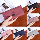 New Women Leather Purse Clutch Leather Wallet Long Card Holder Phone Handbag
