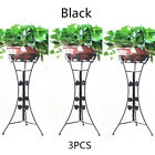 3× Elegant Metal Plant Stand Flower Pots Shelf Unit Pedestal Holder Indoor Patio