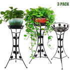 3 Elegant Metal Plant Stand Flower Pots Shelf Unit Pedestal Holder Indoor Patio
