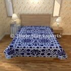 Handmade Indian Suzani Vintage Bedding Ethnic Cotton Embroidery Uzbek Bedspread
