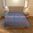 Decorative Hand Embroidery Suzani Bed Cover Indian Cotton Handmade Art Bedspread