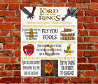 Lord of the Rings Movie Quotes METAL SIGN Birthday Frodo Bilbo Legolas Aragorn