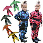 LEO Youth Childrens Kids Motocross Camo Race Suit MX Overalls Quad ATV Jumpsuits