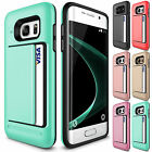 For Samsung Galaxy S8 Plus Wallet Shockproof Case Hybrid Card Slide Phone Cover