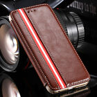 Red Stripe PU Leather Flip Wallet Case Cover with Stand For Apple iPhone 6 4.7