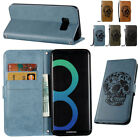 Skull Walllet Leather Shockproof Magnetic Case Cover For Samsung Galaxy Phones