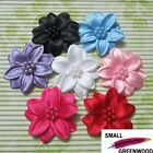 "(U Pick) 35 Pcs 1-3/4"" Satin Flower With Beads Appliques F8800"
