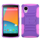 For D820 Nexus 5 Purple/Electric Pink Advanced Armor Stand Protector Cover