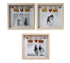 Wood Wooden Box Picture Photo Frame Display 6 x 4 Decorative Choice of 3 designs