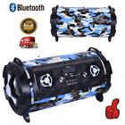 Pro Outdoor Bazooka Portable Bluetooth Stereo Speaker Rechargeable w/ Light AUX
