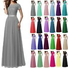 Lace/Long Formal Wedding Evening Ball Gown Party Prom Bridesmaid Dress Size 6-24