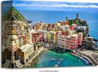 Scenic View Of Ocean And Harbor In Art Print Home Decor Wall Art Poster - C