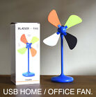 """9"""" Tall Desktop Portable Fan USB or Battery Powered Home Office Camping Cooling"""