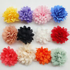 12pcs Big 6CM Chiffon Ribbon Flower Bow Craft Appliques Patch 12 Colors Upick