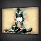 GRUNGE DESIGN MOHAMMAD ALI BOXING ICON WALL ART CANVAS PRINT PICTURE READY HANG