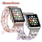 Replacement Wrist Beaded Bracelet Band Strap For Apple Watch 38/42mm Series 1/2