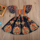 Kids Baby Girls Princess Dress Backless Party Pageant Boho Floral Dresses Skirts
