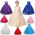 Flower Girl Tulle Birthday Wedding Bridesmaid Kid Pageant Toddler Formal Dresses