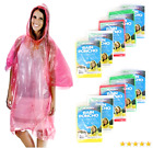 Wealers Poncho One Size Fit All with Hood 10 pieces in display box, 5 different