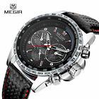 MEGIR Men's Stainless Steel Analog Waterproof Sports Quartz Military Wrist Watch image