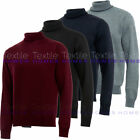Kyпить Mens Roll Turtle Polo Funnel Neck Jumper Smart Fine Knitted Sweater Top Warm на еВаy.соm