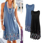 Summer Lady Women Casual Sleeveless Evening Party Cocktail Short Dress Fast Ship
