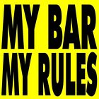 MY BAR MY RULES - 2 Bartender Pins Buttons, tilted kilt, twin peaks