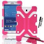 "Shockproof Silicone Stand Cover Case For Various 7"" 8"" Samsung Galaxy Tab+stylus"