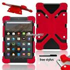 "Shockproof Silicone Stand Cover Case For 7"" 8"" Amazon Kindle Fire Tablet +Stylus"