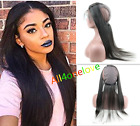8A Human Hair Silk Straight 360 Pre Plucked Lace Frontal Closure with Wig Cap