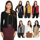 Womens Ladies Bolero Shrug Silky Soft Cardigan Long Sleeve Knit Short Top Work