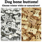 """Dog bone buttons 2 Hole Buttons Natural Sewing Crafts wood natural raw 18mm 3/4"""""""