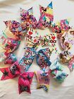Hair Bows, Cheerleader,  Cartoon, All colors Hair Bows for all ages girls image