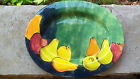 Pottery Barn Serving Platter Buffet Dish Fruit Apple Pear Red Lime Yellow Orange