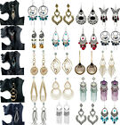 CHIC Vintage Womens Bohemian Antique Round Charm Beads Drop Dangle Hook Earrings