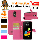 Leather Wallet Stand Folio Flip LSP Case Cover For LG Stylo 3 Plus / TP450 MP450
