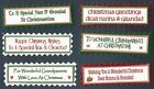 6 NANNA & GRANDAD CHRISTMAS Greeting Card Craft Sentiment Message Banner Tags