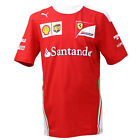 Puma SF Ferrari Team Red White Motorsport Mens Cotton Shirts 761945 01 UA3