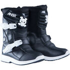 NEW ANSWER BLACK WHITE RACE RACING KIDS PEEWEE MOTOCROSS MX ATV BOOTS RIDING