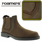"Roamers Mens ""Crazy Horse"" Brown Leather Twin Gusset Chelsea Dealer Boots"