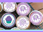 24 PERSONALISED GIRL CHRISTENING EDIBLE RICE,ICING & WAFER  CUPCAKE TOPPER CG11